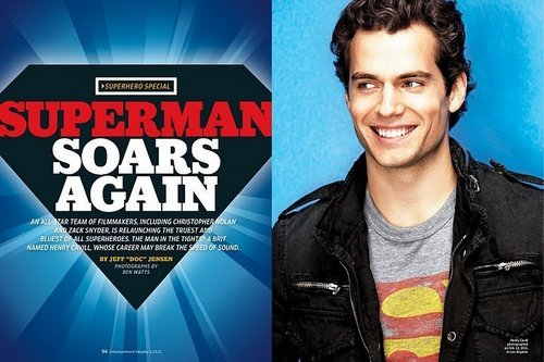 Henry Cavill to estrella as superman