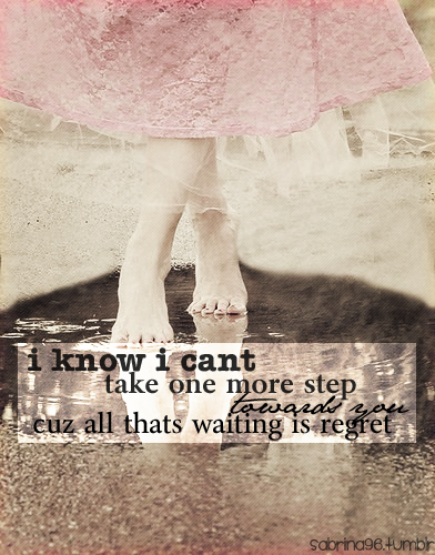 I know I can't take...