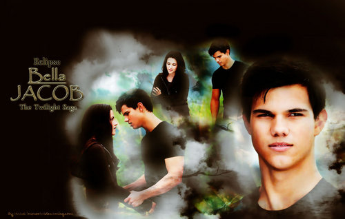 Jacob and Bella wallpaper probably containing a fire entitled Jacob / Bella