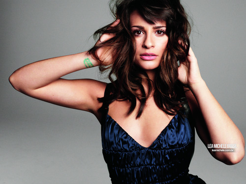 Lea Michele wallpaper probably containing a bustier, a cocktail dress, and a chemise called Lea Michele