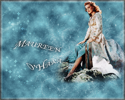 Classic Movies wallpaper probably containing a sign and a dinner dress called Maureen O'Hara