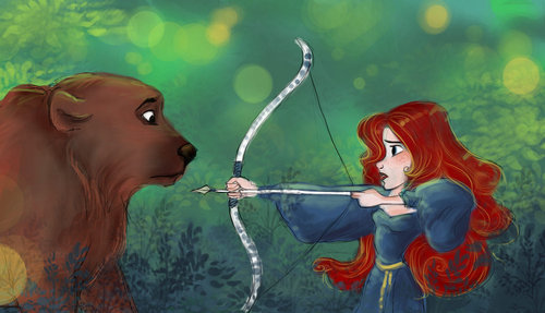Merida and the ours