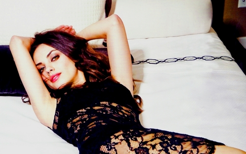 Mila Kunis wallpaper probably with tights, a chemise, and a cocktail dress called Mila