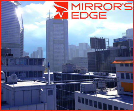 Mirror's Edge wolpeyper containing a business district and a napakataas na gusali titled Mirror's Edge