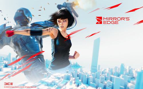 Mirror's Edge wallpaper probably with a sign and alcohol titled Mirror's Edge
