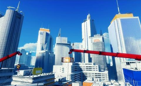 Mirror's Edge wallpaper containing a business district and a skyscraper called Mirror's Edge
