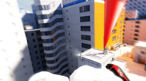 Mirror's Edge wallpaper probably containing a street and a business district called Mirror's Edge