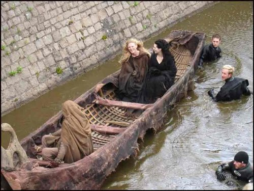 Morgana and Morgause at the sally port Isle of The Blessed