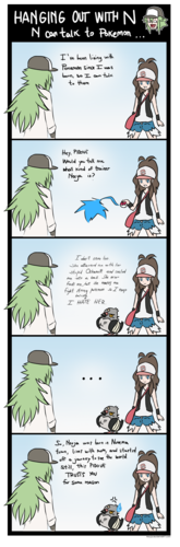 N can talk to pokemon...