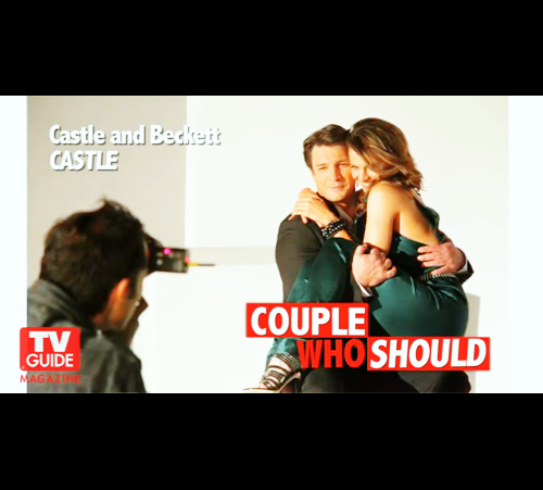성 바탕화면 possibly with a portrait called Nathan & Stana - TV Guide 팬 가장 좋아하는 'Couple Who Should'