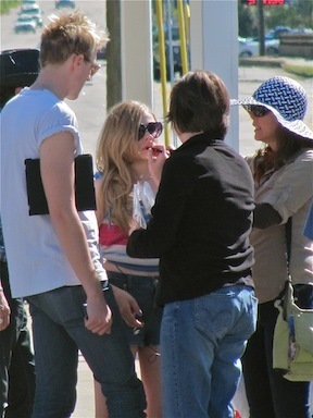 """On the set of """"Hick"""" (April 7th, 2011)"""