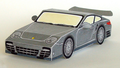 PAPER CARS Porsche 911 Turbo