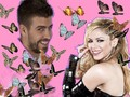 shakira - Piqué and Shakira butterfly love wallpaper
