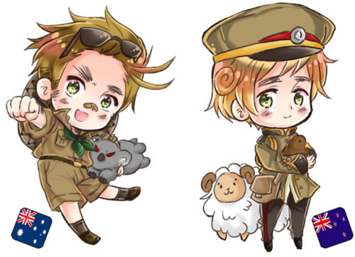 aleatório hetalia - axis powers chibi Thingies!