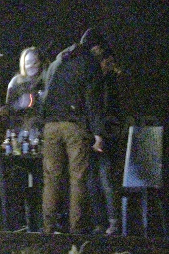 Rob & Twilight Cast At Breaking Dawn Warp Party