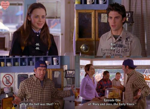 gilmore girls fondo de pantalla containing a brasserie entitled Rory and Jess