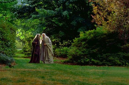 Saruman and Gandalf