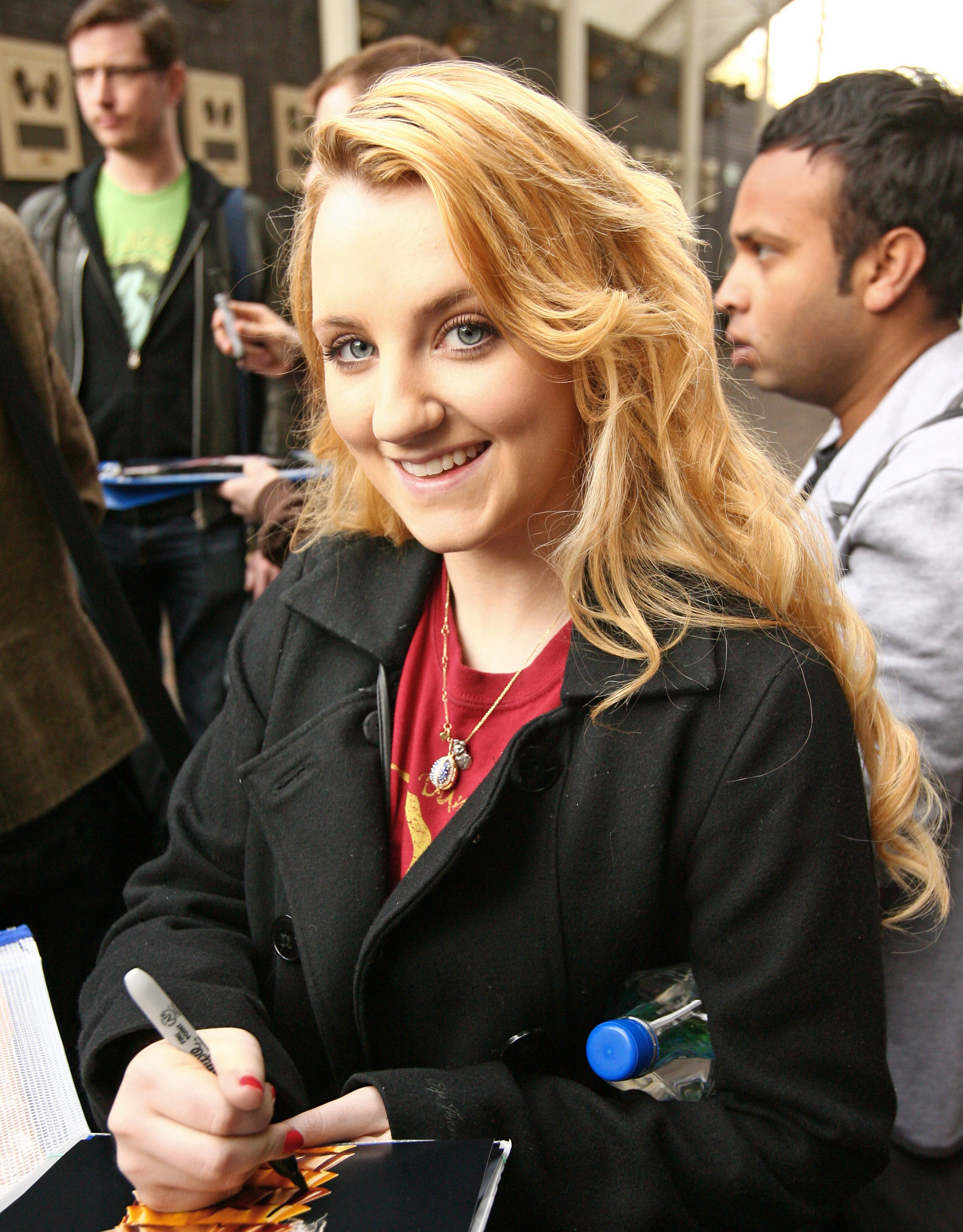 Signing Autographs Outside ITV Studios April 11th, 2011