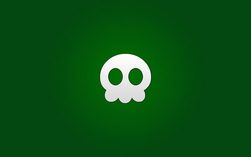Skull on Green