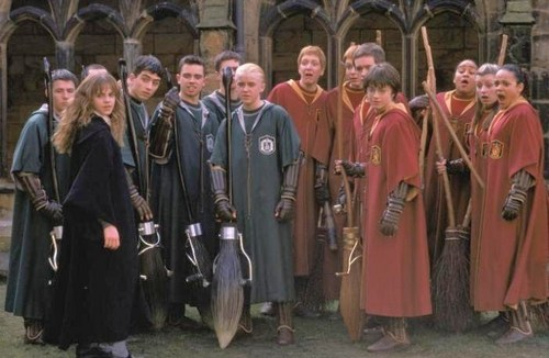 Slytherin and Gryffindor Quidditch Teams (1992)