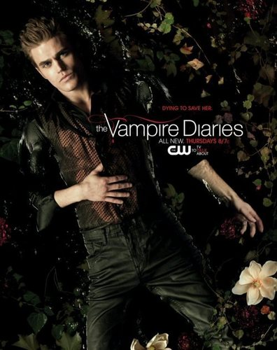 """Stefan's New Promo foto with Tag-line - """"DYING TO SAVE HER."""""""