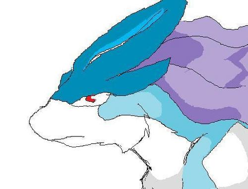 전설의 포켓몬 바탕화면 probably with a red cabbage and 아니메 called Suicune i drew