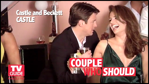 Nathan Fillion & Stana Katic wallpaper possibly with a portrait entitled TV Guide Photoshoot