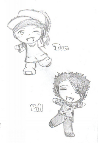 bill and tom - tom-and-bill-kaulitz Fan Art