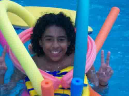 princeton in a swimming pool