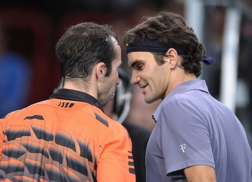 radek and roger - roger-federer Photo