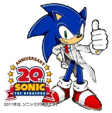 sonic is ready for hes birthday!