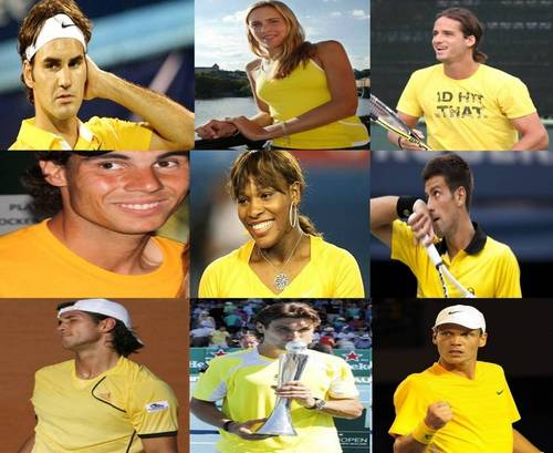 tennis is yellow !!!!