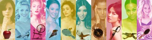 Actesses and Princess symbols