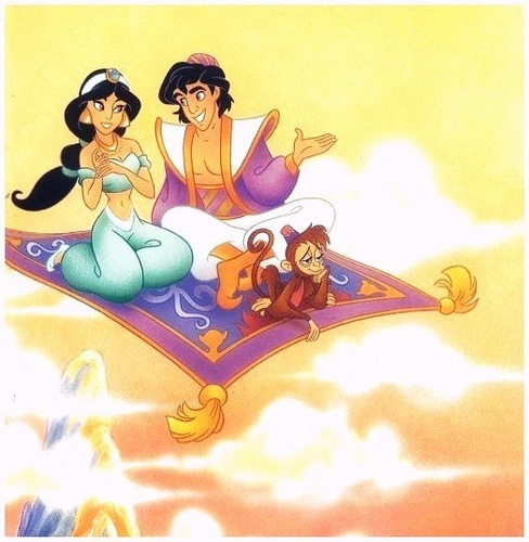 Aladdin and Jasmine wallpaper with anime entitled Aladdin and Jasmine