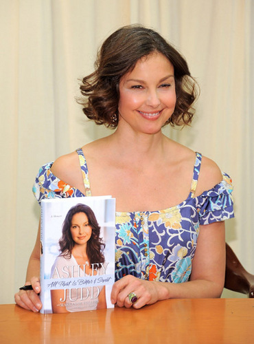 Ashley Judd promoting her new tell all book, All Things bitter And Sweet