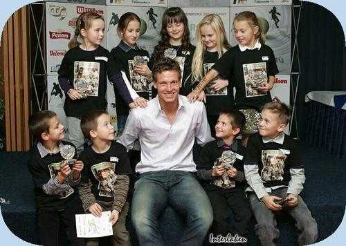Berdych and children