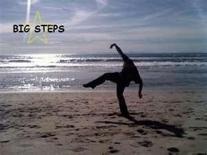 Big Steppin' on the beach.