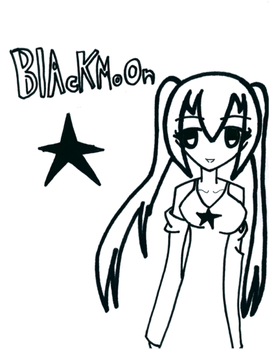 Anime Drawing Hintergrund entitled BlackMoon