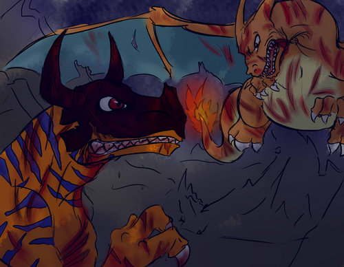 Charizard vs Greymon