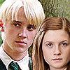 Draco and Ginny photo containing a portrait and a business suit titled D/G Icons