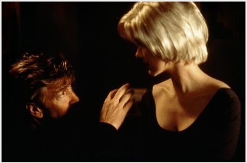 David Lynch and Laura Harring