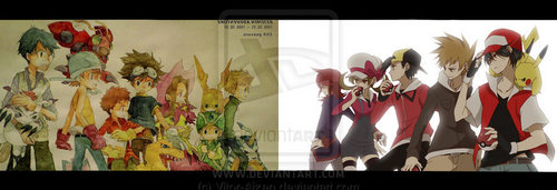 Digimon and Pokemon Face off