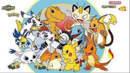 Digimon vs Pokemon!