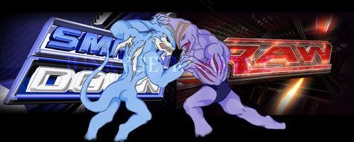 Digimon vs Pokemon wrestling version