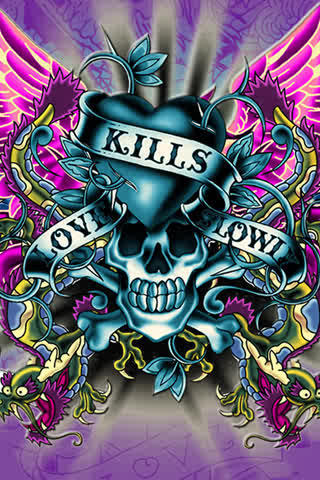 Love Kills Wallpapers For Mobile Phones : Ed Hardy images Ed Hardy wallpaper and background photos (21096863) - Page 4