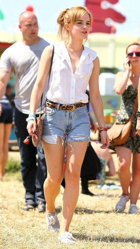 Emma at Glastonbury Music Festival ., 26.06.2010