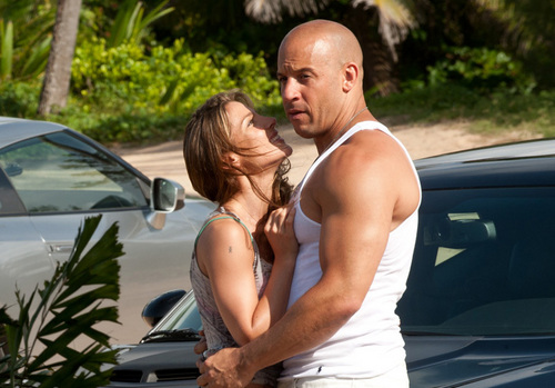 Fast and Furious wallpaper probably with a hunk called Fast Five - Elena & Dom