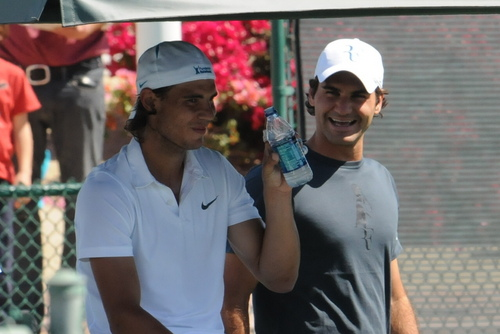 Federer کہا Nadal: Do not drink all the time!