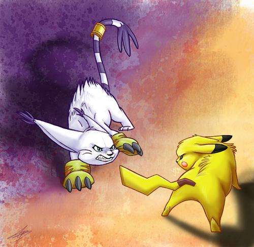 Gatamon vs Pikachu