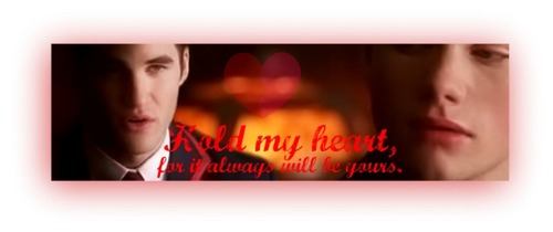 Hold my Heart -Klaine - klaine Fan Art
